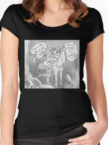 Link and Epona with flower crowns Women's Fitted Scoop T-Shirt