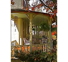 Front porch, The Oaks B&B Photographic Print