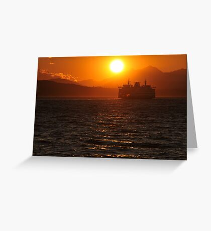 Puget Sound at Sunset Greeting Card