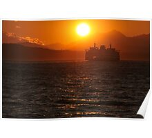 Puget Sound at Sunset Poster