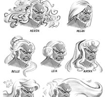Princess Ganondorf Hair Styles by GildedPixel