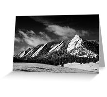 The Majestic Flatirons Greeting Card