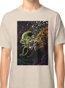 Lagoon monster in the deep with a nice lady Classic T-Shirt