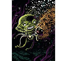 Lagoon monster in the deep with a nice lady Photographic Print
