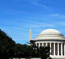 Monument And Jefferson Memorials by Kierankb