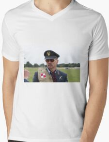 Commemoration of The Hardest Day took place at Biggin Hill Airport Mens V-Neck T-Shirt