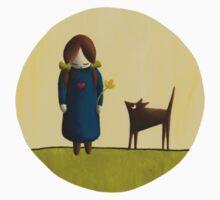 Between the Line - Girl with Dog Baby Tee