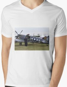 Spitfire at Commemoration of The Hardest Day took place at Biggin Hill Airport 2015 Mens V-Neck T-Shirt
