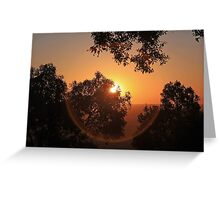 Sunset Orb Greeting Card