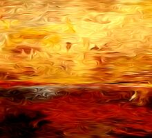 Abstract Colors Oil Painting #10 by Fred Seghetti