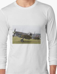 Spitfire at Commemoration of The Hardest Day took place at Biggin Hill Airport 2015 Long Sleeve T-Shirt