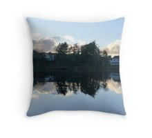 Swedish Suburb Throw Pillow