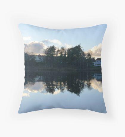 Swedish Suburb Throw Pillow