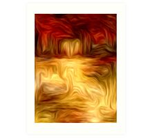 Abstract Colors Oil Painting #11 Art Print