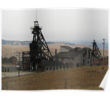 Mine in North Butte, Montana Poster
