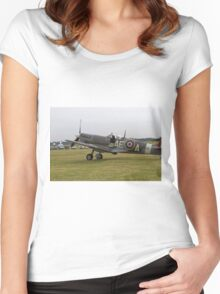 Spitfire at Commemoration of The Hardest Day took place at Biggin Hill Airport Women's Fitted Scoop T-Shirt