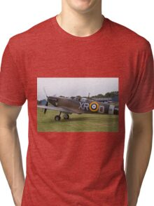 Spitfire at Commemoration of The Hardest Day took place at Biggin Hill Airport Tri-blend T-Shirt