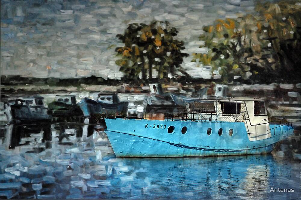 Fishermen's harbor by Antanas