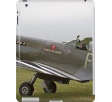Spitfire at Commemoration of The Hardest Day which took place at Biggin Hill Airport iPad Case/Skin