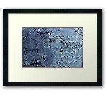 Silver Rider Framed Print