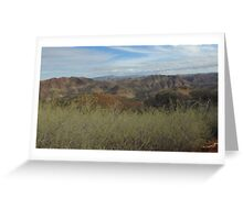 Flinders Ranges - a picturesque panorama Greeting Card