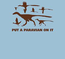 Put A Paravian On It (Brown) Womens Fitted T-Shirt