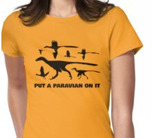 Put A Paravian On It (Black) Womens Fitted T-Shirt