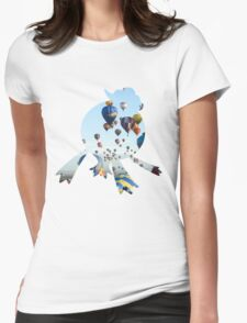 Drifblim used fly Womens Fitted T-Shirt
