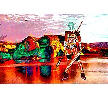 Female Warrior from New Earth Photographic Print