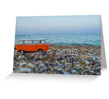 Orange the mini hippie bus Greeting Card