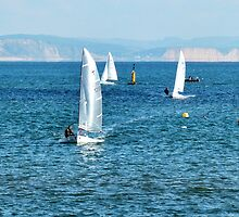 Sailing On A November Day In Lyme by lynn carter