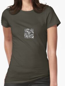 QR-Code Womens Fitted T-Shirt