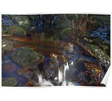 Waterfall, Padley Gorge.  Poster