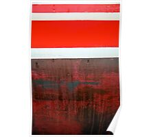 Boat Abstract in Red Poster