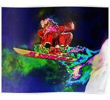 Screw Reindeer, I'm Going Snowboarding Poster