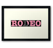 Rodeo - Travi$ Scott (Pink/Blk) Framed Print