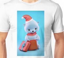 Teddy bear with Christmas gift box Unisex T-Shirt