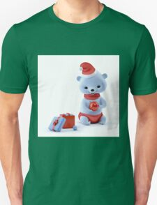 Christmas bear sitting with ball on hands T-Shirt