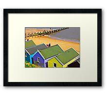 BEACH HUTS.SOUTHWOLD.SUFOLK.UK Framed Print
