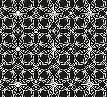 lace pattern with abstract flowers by alijun