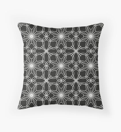 lace pattern with abstract flowers Throw Pillow