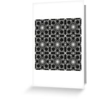 lace pattern with abstract flowers Greeting Card