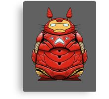 Iron Man Totoro Canvas Print