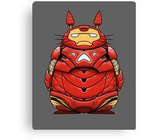 Iron Man Totoro Canvas Print