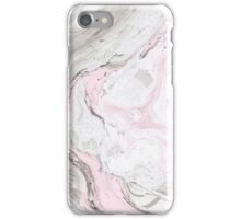 Suminagashi Love, Gray and Pink iPhone Case/Skin