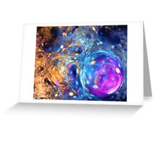 bubbles abstract colorful background with vibrant color Greeting Card