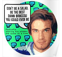 PewDiePie DON'T BE A SALAD! Poster