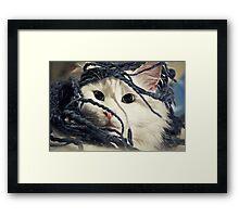 Little Furry Bugger Framed Print