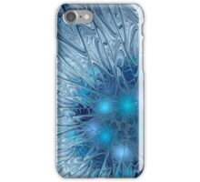 Ice crystal patterns frozen background iPhone Case/Skin