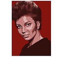 Uhura from TOS Star Trek (stylized) Photographic Print